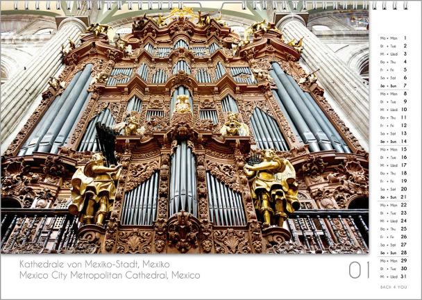Ein Orgelkalender: das Januarblatt.