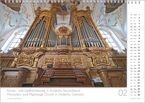 Ein Orgelkalender: das Februarblatt.