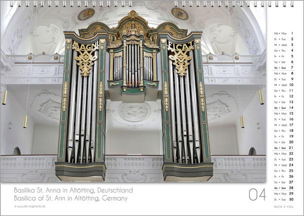 Ein Orgelkalender: das Aprilblatt.