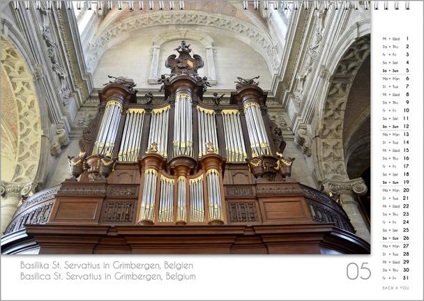 Ein Orgelkalender: das Maiblatt.