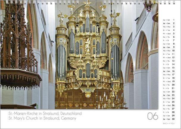 Ein Orgelkalender: das Juniblatt.