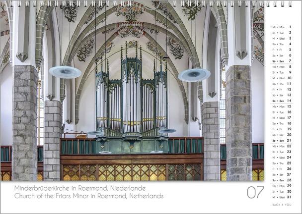 Ein Orgelkalender: das Juliblatt.