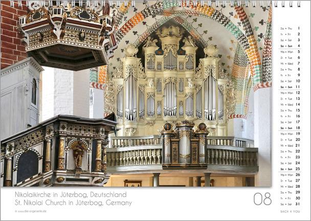 Ein Orgelkalender: das Augustblatt.