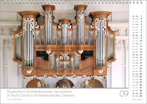 Ein Orgelkalender: das Septemberblatt.