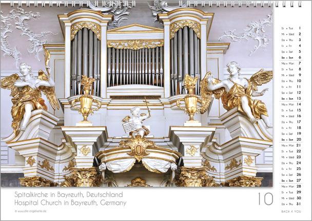 Ein Orgelkalender: das Oktoberblatt.