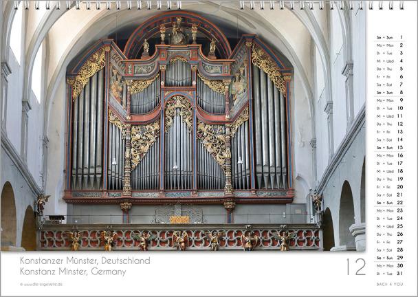 Ein Orgelkalender: das Dezemberblatt.